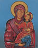 Madonna with Christ - 20cm x 25cm - oil on canvas