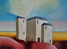 Three Towers - oil on canvas 43 cm x 33cm