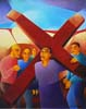 2.Jesus takes up His cross - 50cm x 40cm - oil on canvas