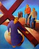 3.Jesus falls for the first time - 50cm x 40cm - oil on canvas
