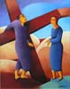 4.Jesus meets His Mother Mary - 50cm x 40cm - oil on canvas