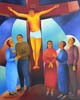 12.Jesus dies on the cross - 50cm x 40cm - oil on canvas